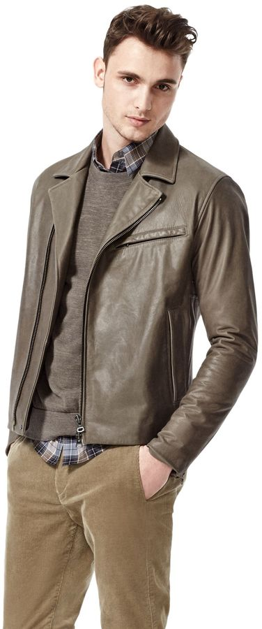 Theory Vidar L Jacket in Flighter Leather