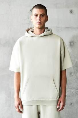 boohoo Oversized Short Sleeve Heavyweight Hoodie
