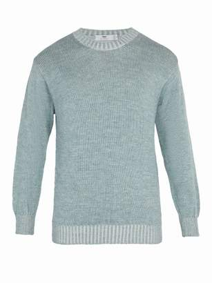 Inis meáin Inis MeAin - Alpaca And Silk Blend Sweater - Mens - Light Blue