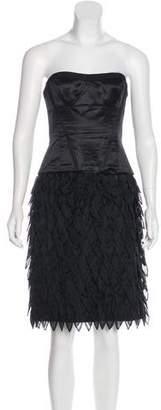 BCBGMAXAZRIA Runway Silk-Blend Dress