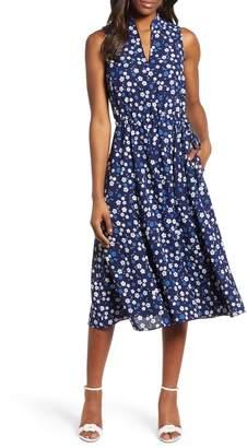 Anne Klein Haviland Print Midi Dress