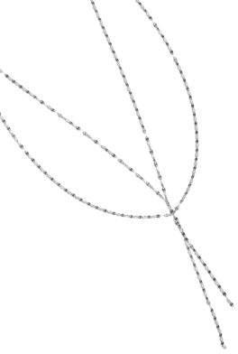Lana Mega Blake 14K White Gold Lariat Necklace