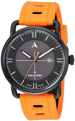 Eleven Paris One Men's SW1 Solar Quartz Stainless Steel and Silicone Casual Watch