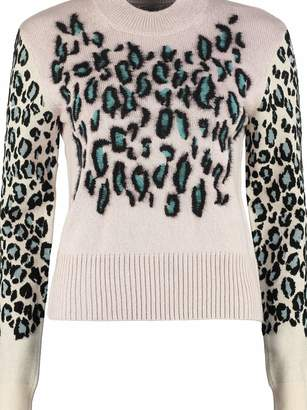 Kenzo Wool Pullover With Jacquard Leopard Motif