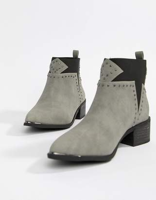 Missguided studded western boots