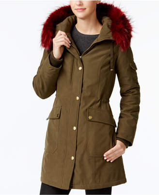 1 Madison Expedition Customizable Faux-Fur-Trim Anorak Coat