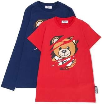 Moschino Kids TEEN scratched teddy print top set