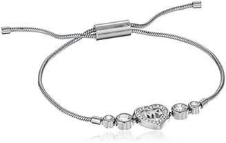 Michael Kors Womens -Tone Heart Link Charm Bracelet