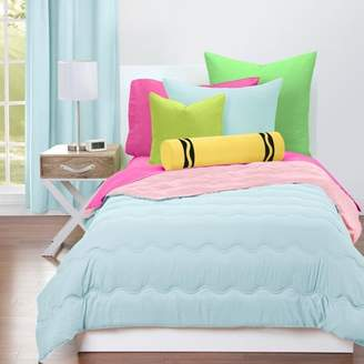 Crayola Sky Blue and Tickle Me Pink Reversible Comforter Set