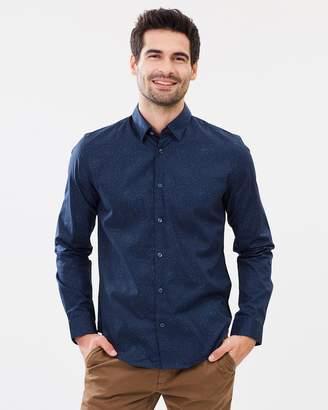 Ben Sherman Long Sleeve Psychedelic Pindot Shirt