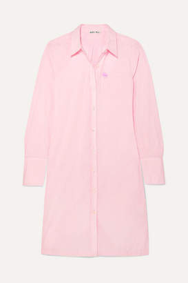 Alex Mill Standard Shore Appliquéd Cotton-poplin Shirt Dress - Pink