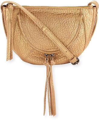 Kooba Clara Half-Moon Metallic Mini Crossbody Bag, Gold $175 thestylecure.com