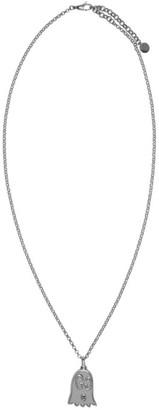 Gucci Silver GucciGhost Necklace $260 thestylecure.com