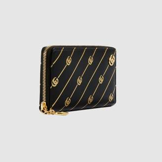 Gucci Zip around wallet with Double G stripe