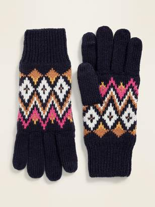 Old Navy Fair Isle Sweater-Knit Gloves for Women