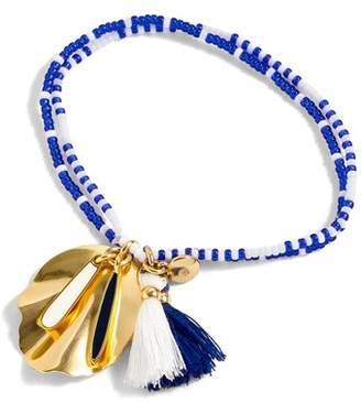 J.Crew J. CREW Beaded Shell & Tassel Bracelet