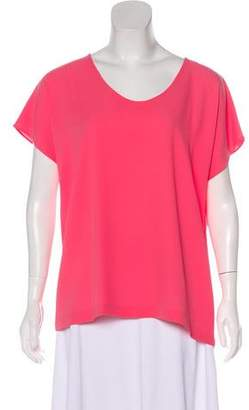 Diane von Furstenberg Scoop Neck Cap Sleeve Top