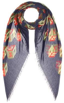 Gucci Printed silk-blend scarf