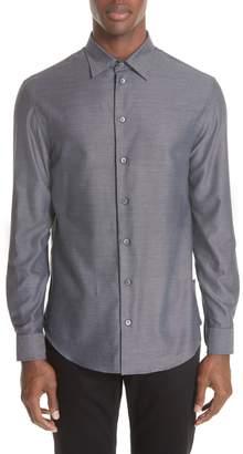 Emporio Armani Regular Fit Twill Sport Shirt