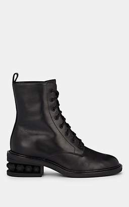 Nicholas Kirkwood Women's Suzi Leather Combat Boots - Black