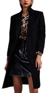 Helmut Lang Women's Wool Melton Overcoat - Black