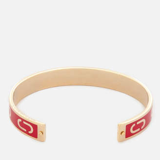 Marc Jacobs Women's Double J Enamel Cuff Bracelet - Bright Cardinal