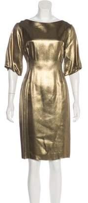 Dries Van Noten Metallic Knee-Length Dress