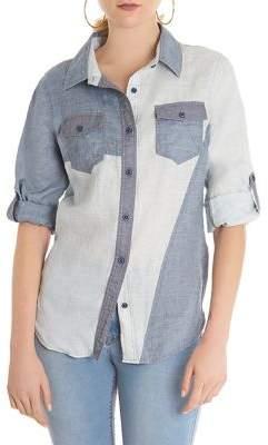 Anthony Logistics For Men LA LA Colorblocked Button-Front Shirt