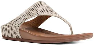FitFlop Women's Banda TM Perforated Nubuck Thong Sandals