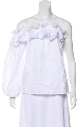 Petersyn Ruffled One-Shoulder Blouse
