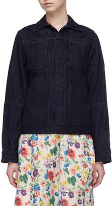 MS MIN Patch pocket raw denim jacket