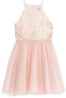 Blush by Us Angels Sequin Tutu Dress