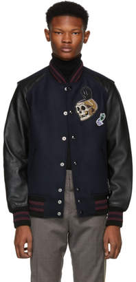 Coach 1941 Navy and Black Disney Edition Snow White Varsity Jacket