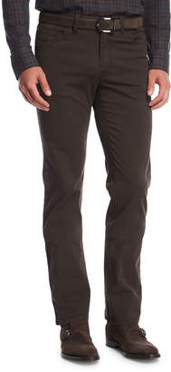 Brioni Stretch-Cotton Straight-Leg Pants