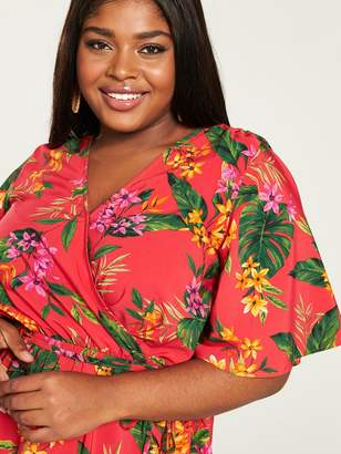 299160dc5774 Marc Jacobs V By Very Curve V by Very Curve Printed Wrap Blouse - Tropical