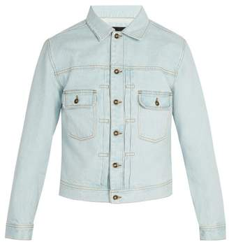 Saturdays NYC Ray Bleached Denim Jacket - Mens - Light Blue