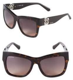 Swarovski 54MM Square Sunglasses