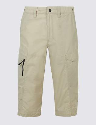 Marks and Spencer Cotton Rich 3/4 Leg Trekking Shorts