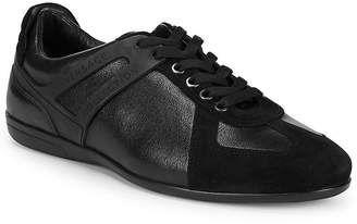 Versace Lo-Top Lace-Up Leather Sneakers