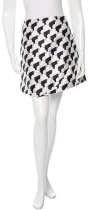 Narciso Rodriguez Geometric Print A-Line Skirt