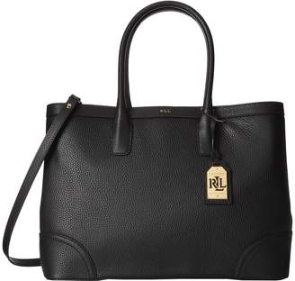Ralph Lauren Women's Pebbled Leather Fairfield City Tote Bag