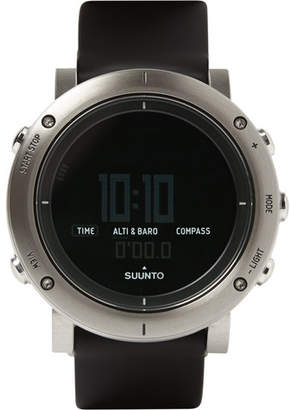 Suunto Core Brushed Stainless Steel And Rubber Sports Watch