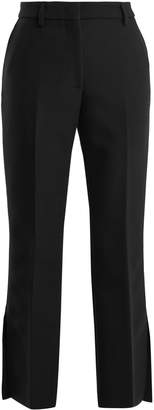 MSGM Slit-cuff mid-rise crepe trousers