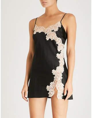 Marjolaine Etincelle stretch-silk slip dress