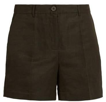 Mid-rise straight-leg shorts