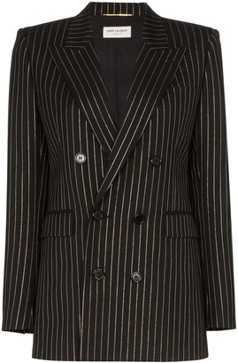Saint Laurent pinstripe double-breasted blazer