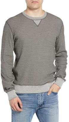 Billy Reid Regular Fit Waffle Crewneck Sweatshirt