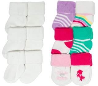 Carter's Child of Mine by Magical Unicorn Terry Cuff Sock Set, 12 Pack (Newborn Girls & Baby Girls)