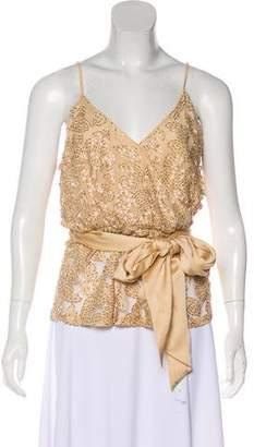 Halston Sleeveless Embellished Top