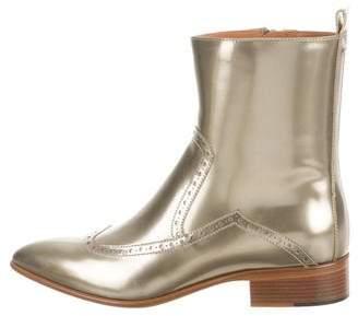 Maison Margiela Metallic Brogue Boots w/ Tags